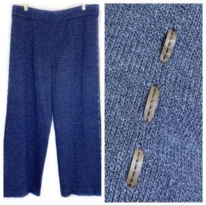 ST. JOHN SPORT Santana Knit Pants Leather Det  135